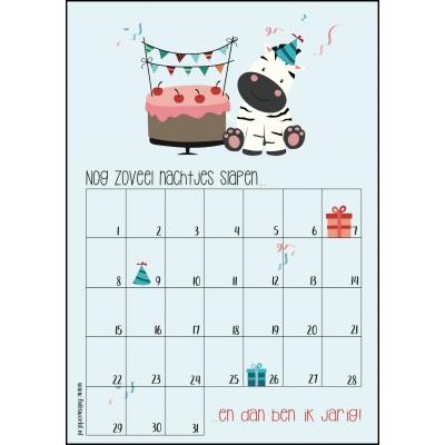 Aftelkalender A4 jarig