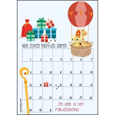 Aftelkalender A4 pakjesavond