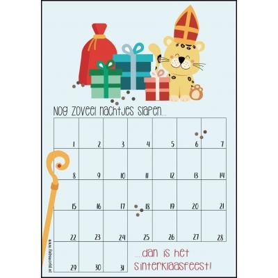 Aftelkalender A4 sinterklaasfeest