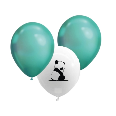 Ballonnen babypanda metallic groen
