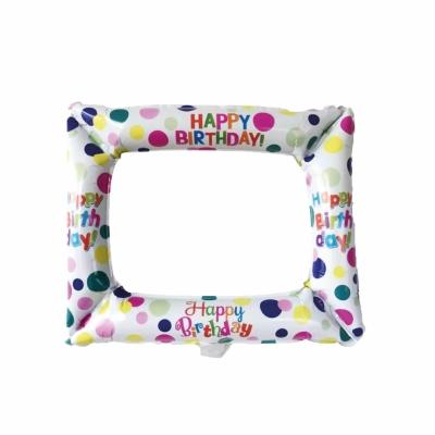Ballonnen (selfie) frame happy birthday