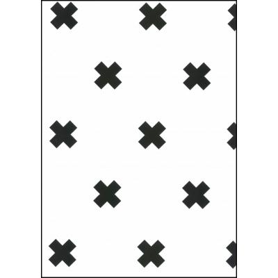 Fabulous World Behang Cross wit en zwart 67104-6