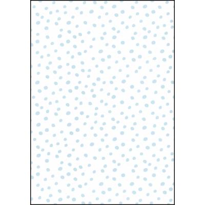 Fabulous World Behang Dots wit en blauw 67106-3