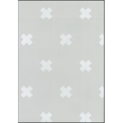 Fabulous World Behang Cross grijs en wit 67104-1