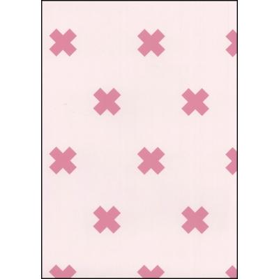 Fabulous World Behang Cross roze 67104-2