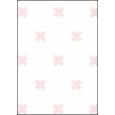 Fabulous World Behang Cross wit en roze 67104-3