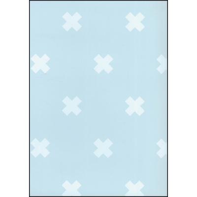 Fabulous World Behang Cross blauw 67104-4