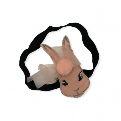 Haarband konijn roze