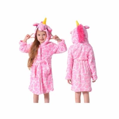 Badjas giraffenprint roze