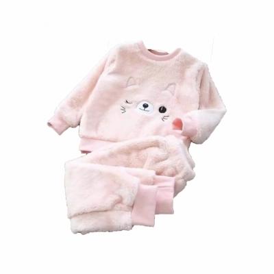 Kinder pyjama katje licht roze