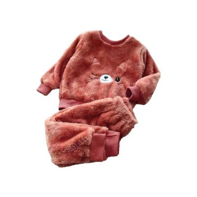 Kinder pyjama katje brons