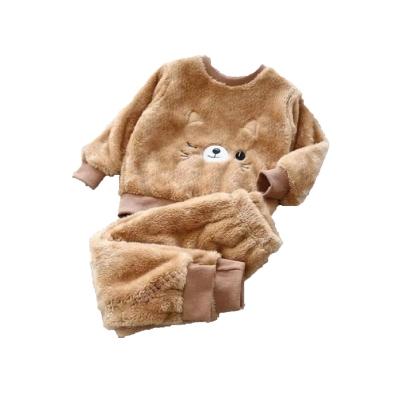 Kinder pyjama katje cognac