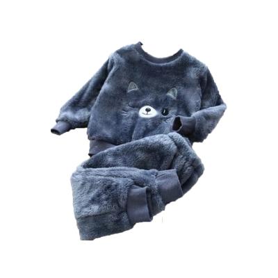 Kinder pyjama katje donker blauw