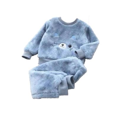 Kinder pyjama katje licht blauw
