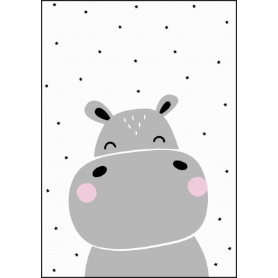 Poster A4 hippo