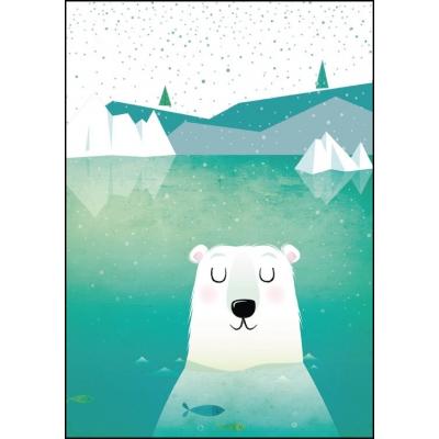 Poster A4 icebear