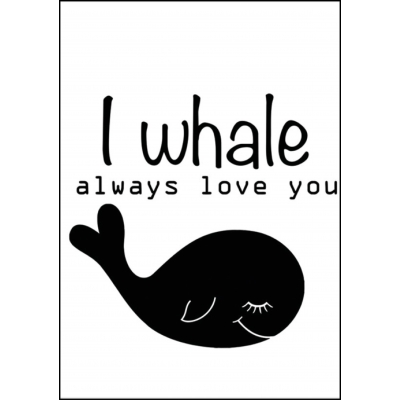 Poster A4 i whale