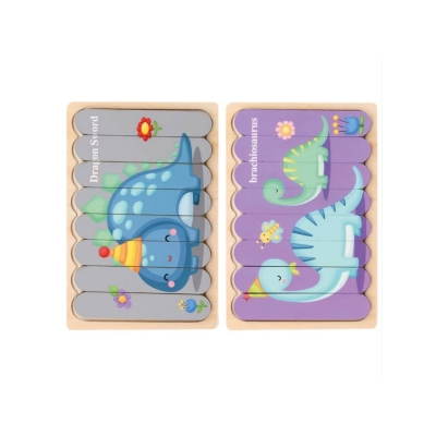 2 in 1 puzzel dino