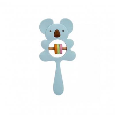 Siliconen rammelaar koala blauw
