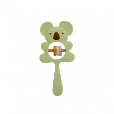 Siliconen rammelaar koala groen