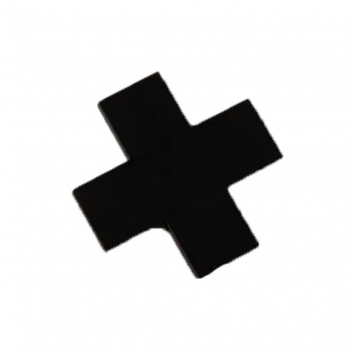Kapstok kruis zwart