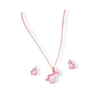 Kindersieraden setje unicorn roze