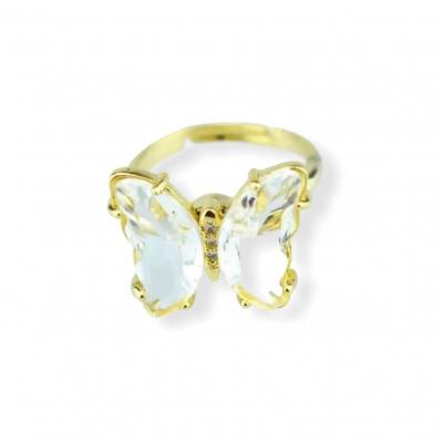 Fidget vlinder ring wit