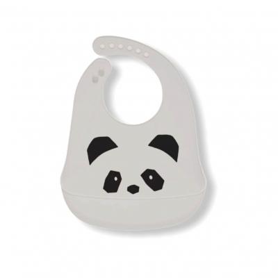 Siliconen slabber panda grijs