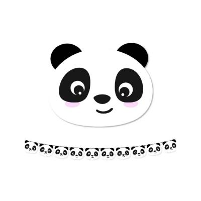 Papieren slinger panda