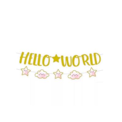 Papieren slinger hello world girl