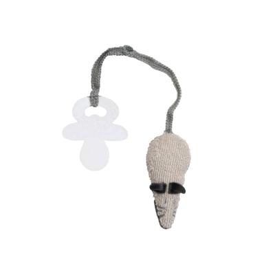 Speenclip muis grijs/beige
