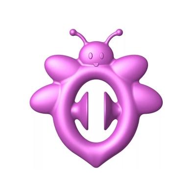 Anti stress knijp handspeelgoed bijtje paars