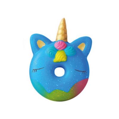 Squeezy donut unicorn blauw